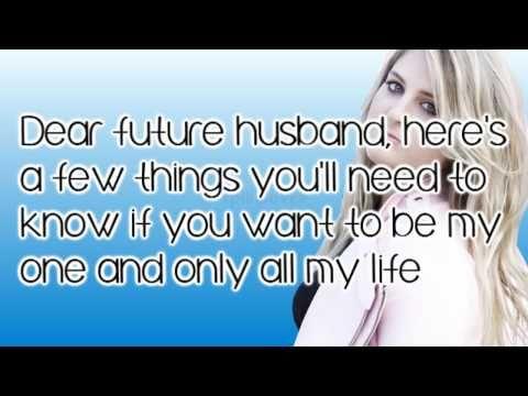 ▶ Meghan Trainor - Dear Future Husband LYRICS! - YouTube
