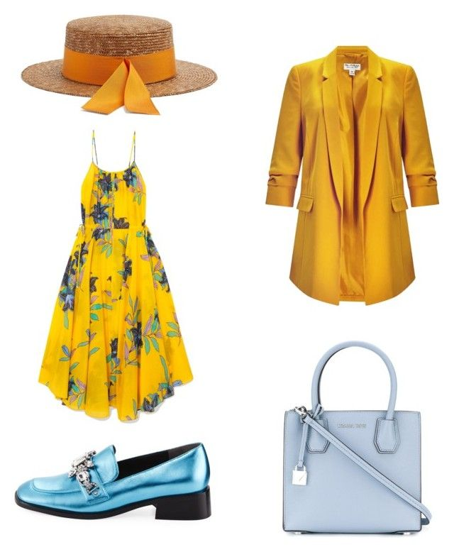 """blues and yellow"" by goitsemooketsi on Polyvore featuring Miss Selfridge, Marc Jacobs, MICHAEL Michael Kors, Federica Moretti and Diane Von Furstenberg"