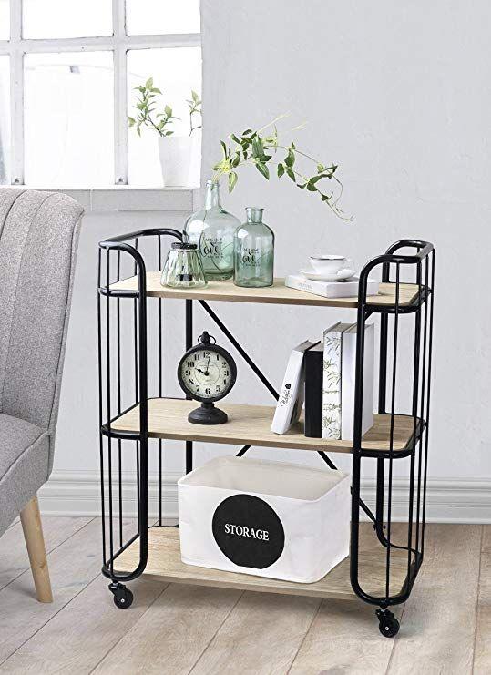 servierwagen mit rollen holz wohn design. Black Bedroom Furniture Sets. Home Design Ideas