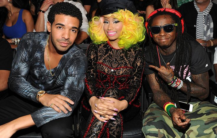 Drake, Nicki Minaj, and Lil Wayne on the scene at the 2012 MTV Video Music Awards in Los Angeles.
