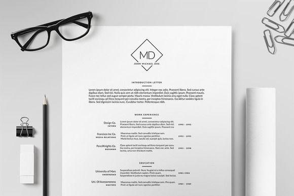 resume  cv template ii by printforge on creative market