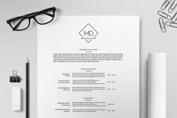 resume  cv template ii by printforge on creative market