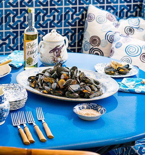 Tavolo da pranzo #tavolo #table #eating #design #blue #kitchen