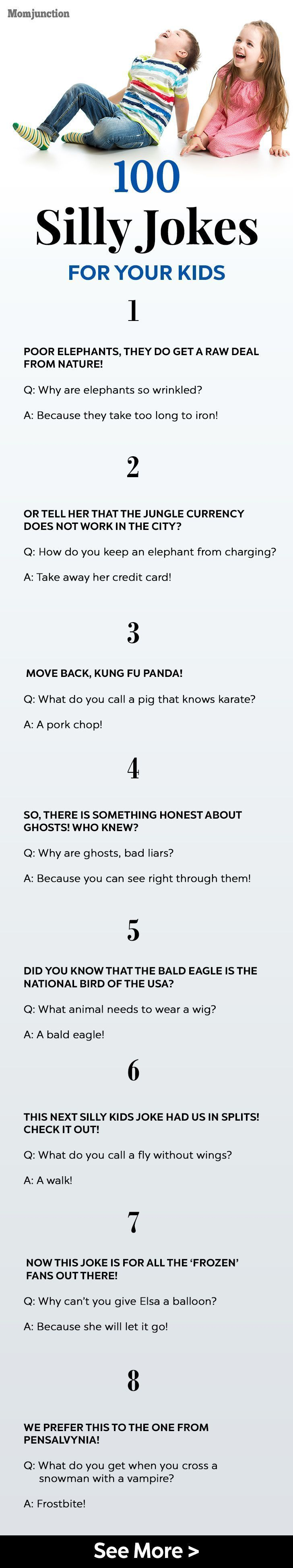 2265d4f9e36c42c117ae0c33a7d5d735 100 Silly Jokes For Your Kids: Here are some clean, silly and funny jokes for ki...