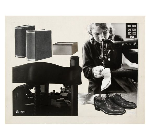 Stefan Themerson ca. 1930 Collage of halftone & gelatin silver print cut-outs