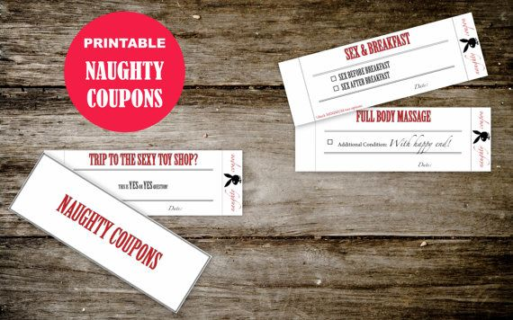 Dirty coupons for girlfriend