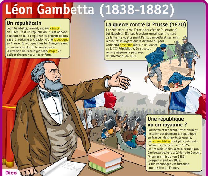 Fiche exposés : Léon Gambetta