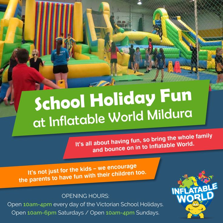 Your kids will be sure to burn off some energy these holidays at Inflatable World Mildura!!