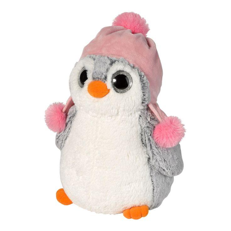 Peluche pingüino mediano JAPPY - Peluche pingüino con gorro | El Corte Inglés