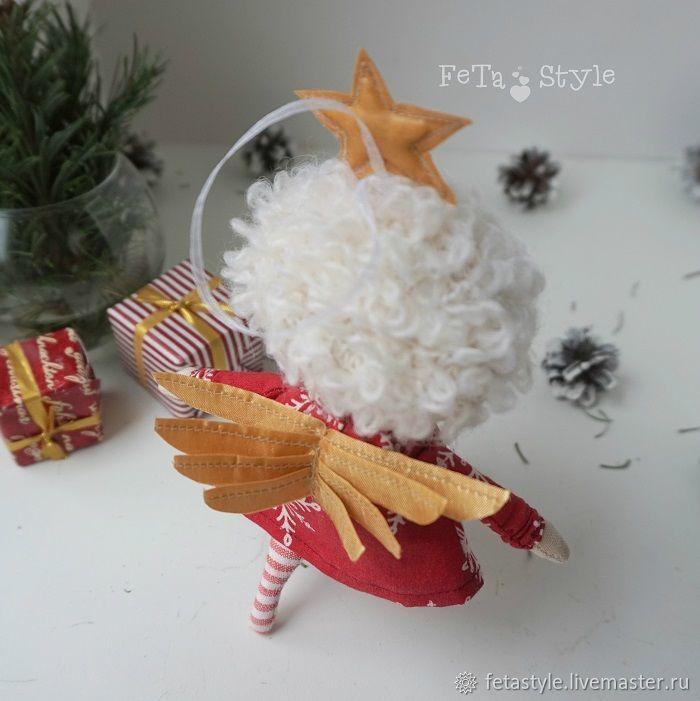 Купить Рождественская Звездочка Кукла текстильная Игрушка на Елку - ангел, ангелы, ангелочек, подарок на новый год
