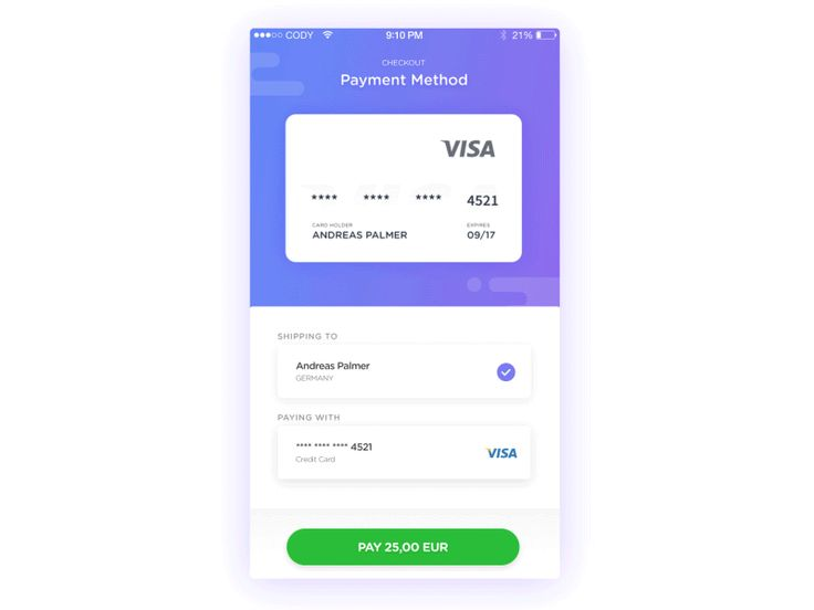 Hey everyone! This here is my first every attempt at making an animation of one of my designs! This one is the credit card checkout process for my concept app called Payme.  Let me know what you th...