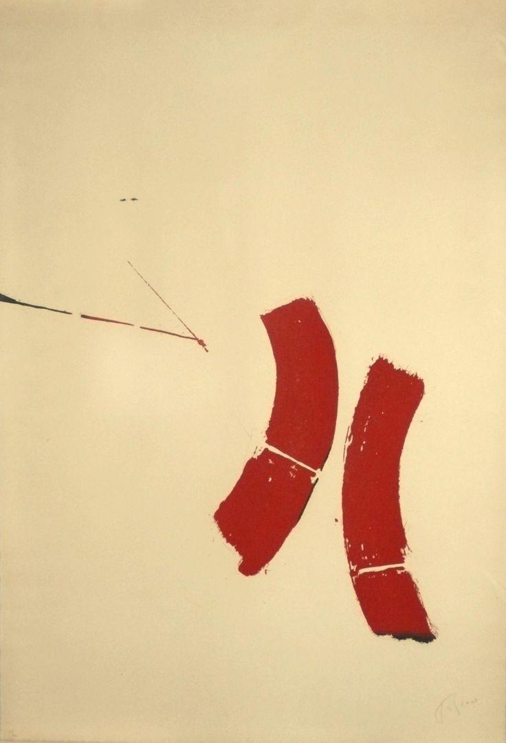 dailyartjournal: Pierre Tal-Coat, Dans la plaine I - 1971, eau-forte et aquatinte sur papier teinté