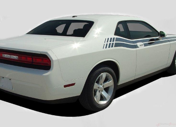 2008-2010 and 2011-2018 Dodge Challenger Duel Mopar Factory Style Strobe R/T Vinyl Graphics Stripes 3M Decal Kit