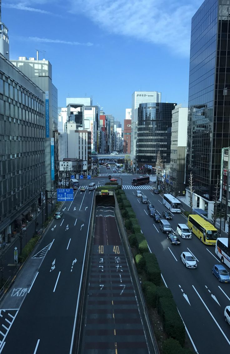 The not so busy streets of Tokyo