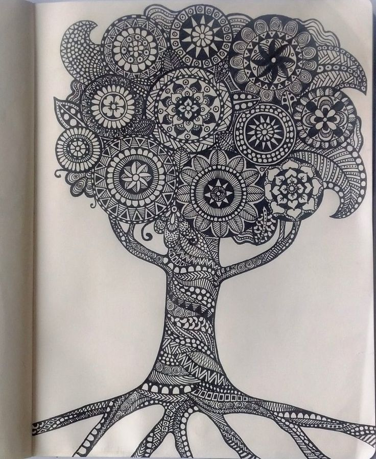 17 Best Images About Zentangle Flowers Trees And Leaves