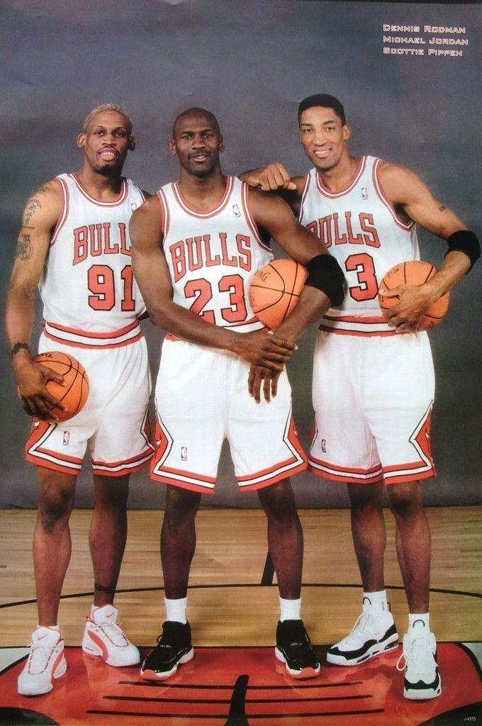 CHICAGO BULLS POSTER: MICHAEL JORDAN, DENNIS RODMAN