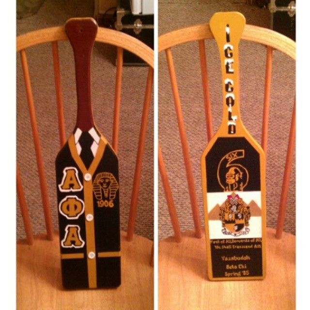Alpha Phi Alpha paddles