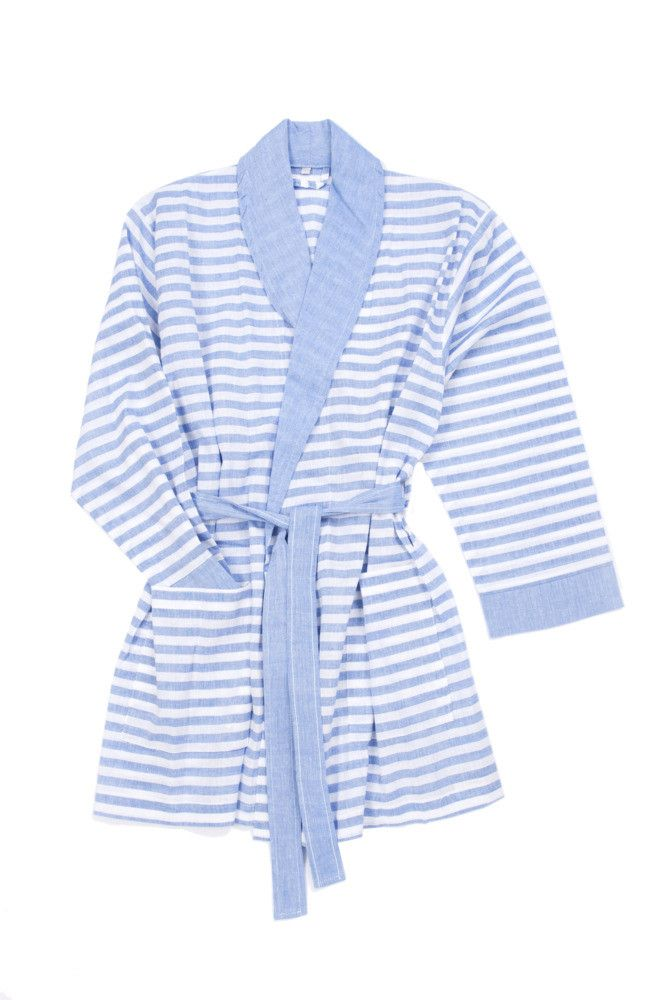 Sorbet Short Bathrobe Royal Blue