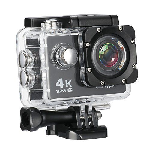 From 37.69:Mixmart 4k 16m Action Camera Sports Camera With 2'' Lcd Screen 170 Degree Hd Wide-angel Fish-eye Lens Built-in Wifi For Android And Ios Devices