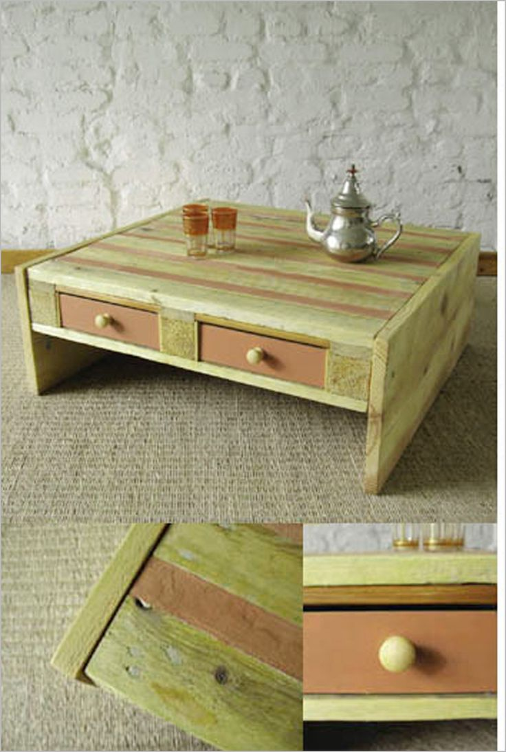 Wood pallet coffee table do you assume wood pallet coffee table - Coffee Table With Drawers Made Of Wooden Palette