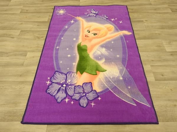 Beautiful Tinker bell Purple Kids Mat at Rug Direct. Size: 100 x 150cm, Great for the little girl's room or nursery.