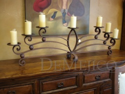 Hand Forged Wrought Iron Candle Holder