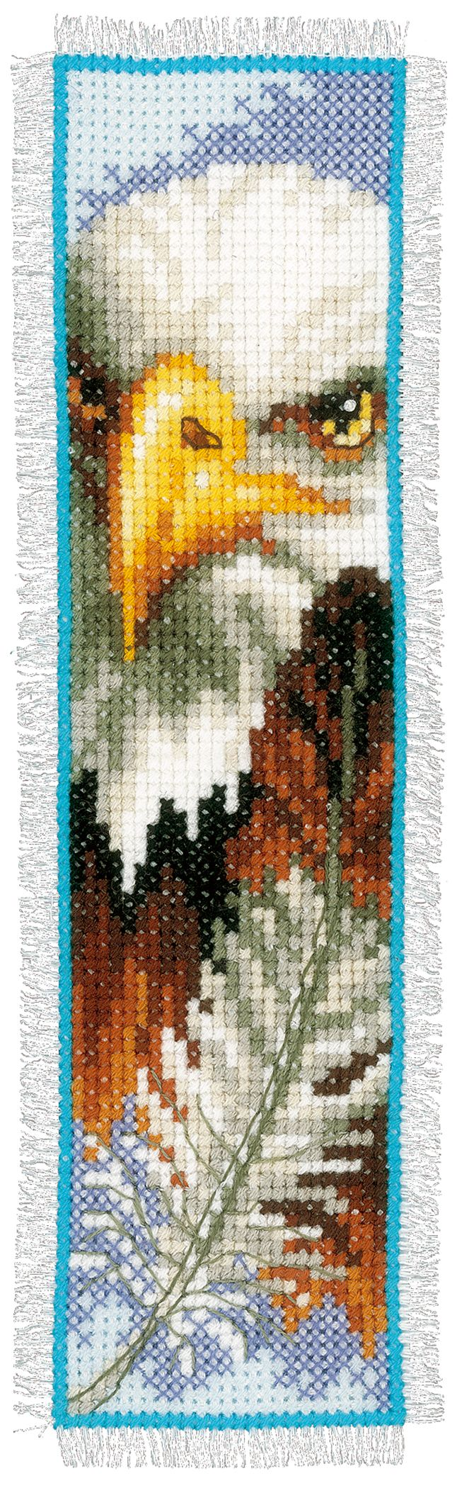 Vervaco Counted Cross Stitch Kit - Bookmark Eagle