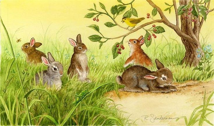 Картинки с зайчатами для детей, руководителю день рождения