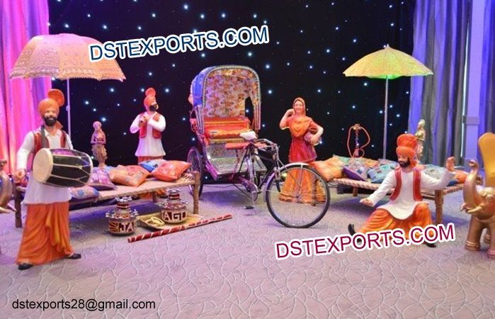 #Punjabi #Marriage #Mehndi #Stage #Decorations #Dstexports