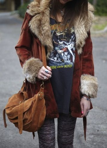 """i used to have a coat just like this...like every favorite item some """"friend"""" stole it...i need to dedicate some thrifting time to finding coats and jackets other than leather ones"""