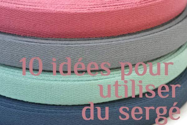 10 idées pour utiliser du sergé | inspiration | Blog de Petit Citron