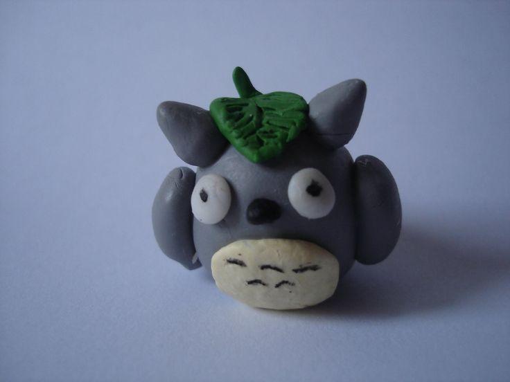 Totoro en porcelana fría. Polymer clay Totoro