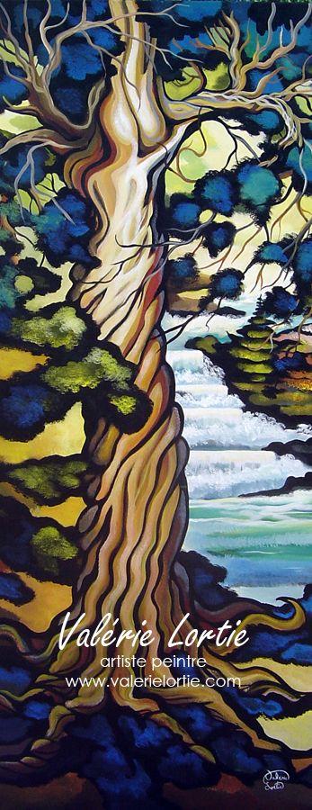 Le grand protecteur 24 x 60po Acrylique sur toile Vendu