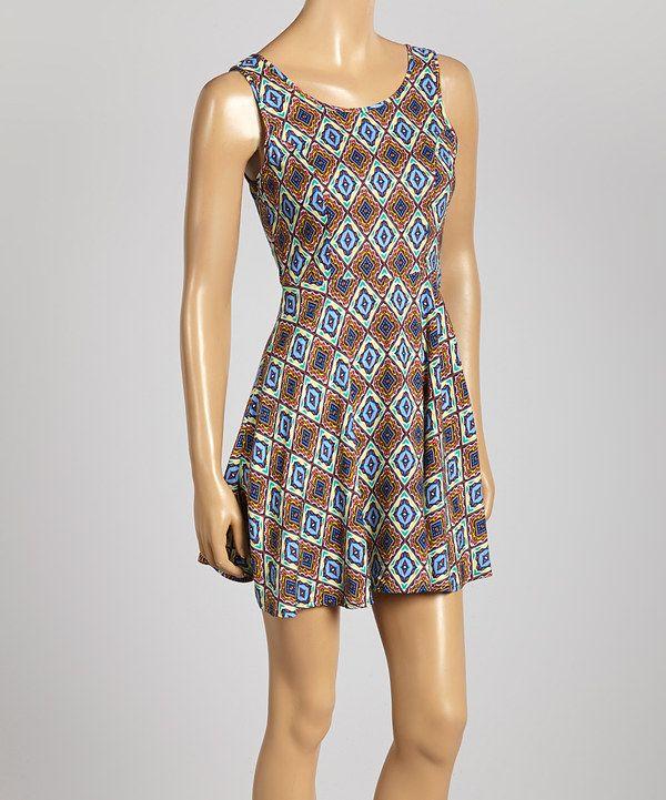 Look at this #zulilyfind! Royal Blue Zip-Up Sleeveless Dress by Hadari #zulilyfinds