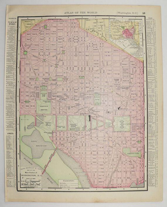 Unique Map Of Washington Dc Ideas On Pinterest Washington Dc - Map of us washington dc