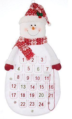 "Delton Products Felt Snowman Christmas Countdown Fabric Advent Calendar, 36"""