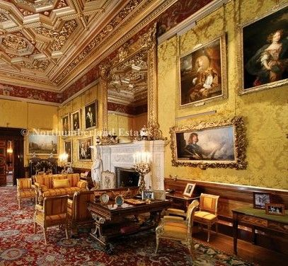 State Rooms of Alnwick Castle, Northumberland (featured in the Downton Abbey Christmas Special of 2014)