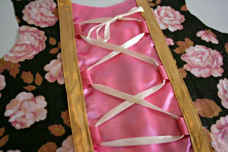 pralerier: DIY: Fint snøreliv på prinsessekjole