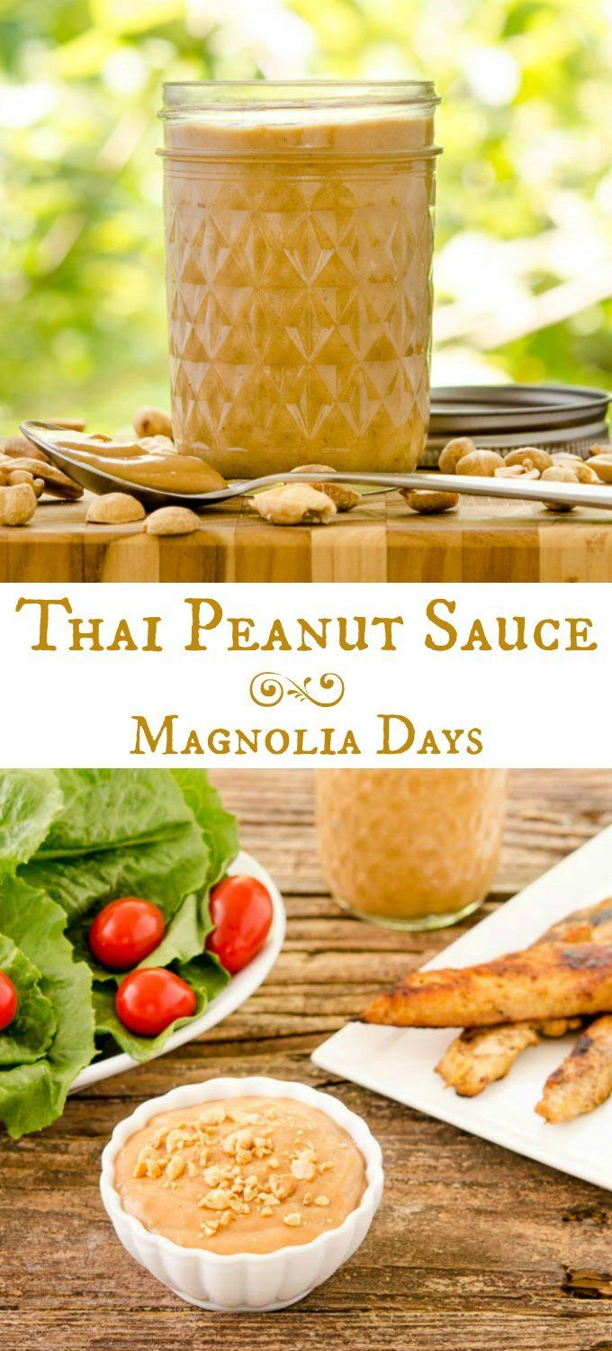 Thai Peanut Sauce for a meat satay or kebab dip, to toss on noodles, or salad dressing. It's thick, rich, and full of Asian flavors.
