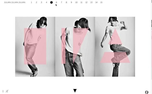 Web site for JulianJulianJulian by Aoki.