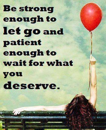 Let go quote via Carol's Country Sunshine on Facebook