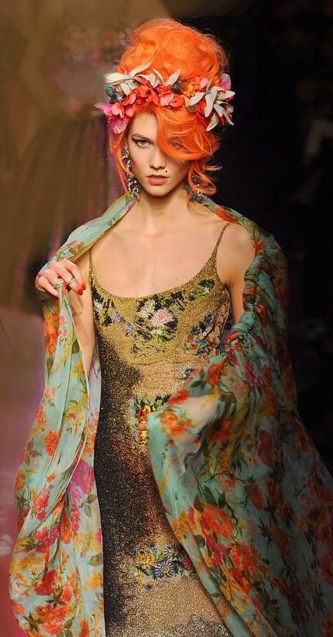Jean Paul Gaultier, Spring/Summer 2012,  Couture, Karlie Kloss