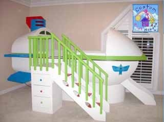 Space Ship Themed Play Loft Bed By Custom Playhouses Boys Room