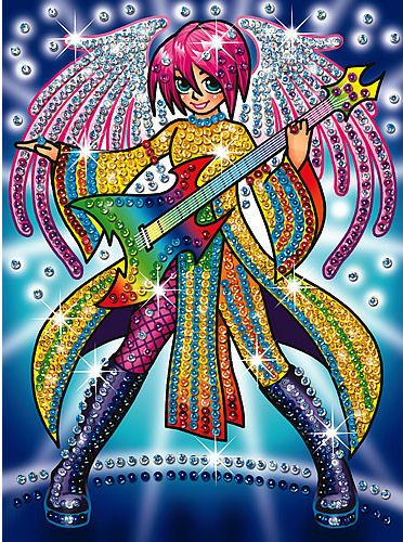 Sequin Art Rock Angel - Manga 0926 KSG | Hobbies