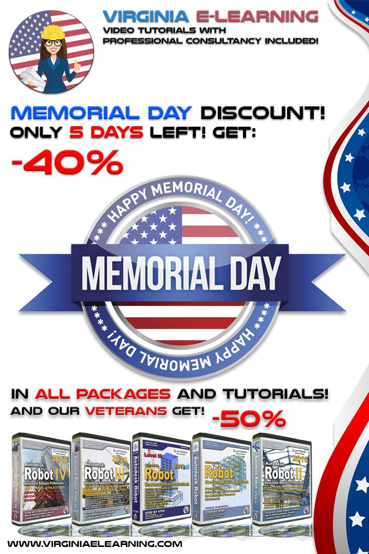 13 best autodesk robot 2016 tutorial expert level steel get a 40 off in all packages and tutorials with our memorial day discount coupon its easy just enter the coupon code mday during the checkout process fandeluxe Images