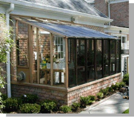 Would love to have a greenhouse off of my kitchen imagine Do it yourself sunroom