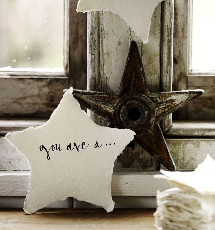 rag paper stars - baileys