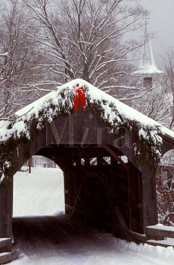 Covered bridge and steeple