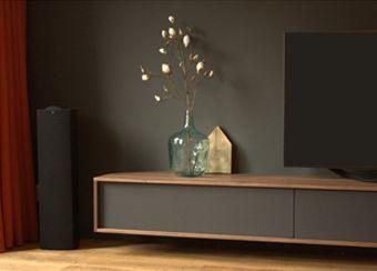 Afbeeldingen van 3D ontwerpen van tv kasten, boekenkasten en meubels op maat