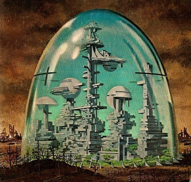 American illustrator Dean Ellis became a prominent name in sci-fi artwork throughout the '60s and '70s.